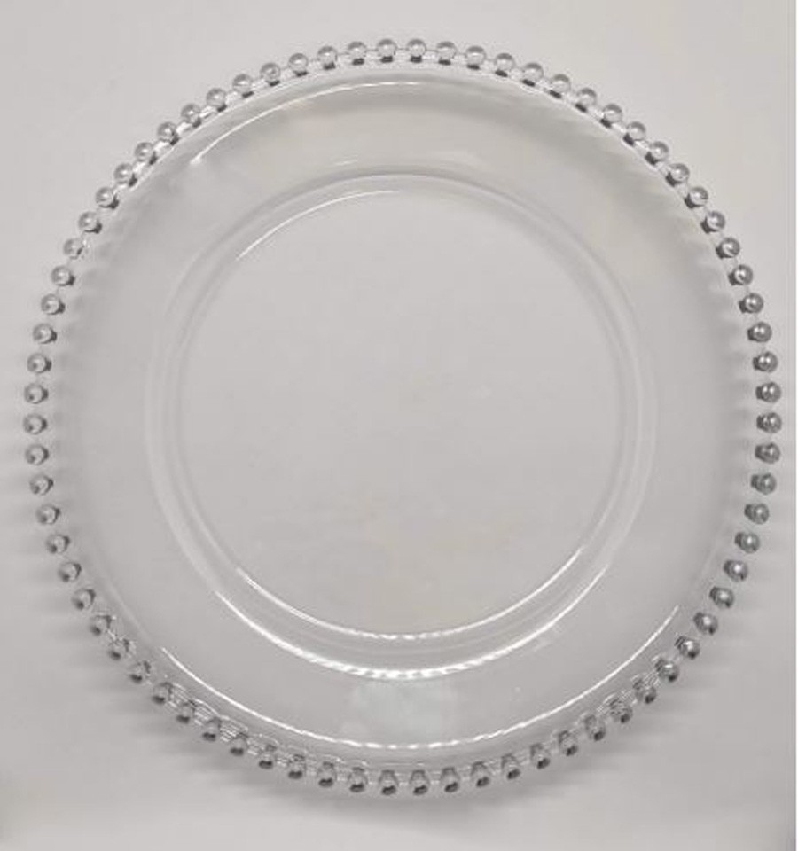 Sousplat Redondo Requinte Cristal Prata 32cm - 1177  - Arrivo Mobile