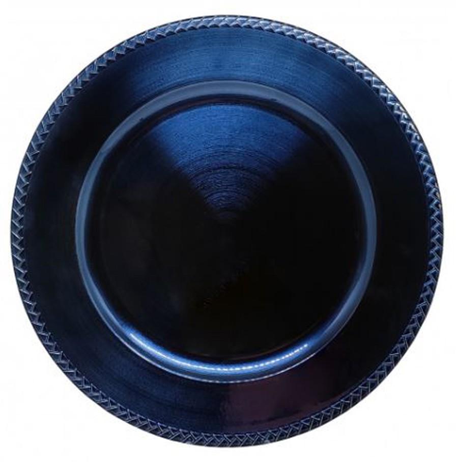 Sousplat Redondo Veneza Azul 33cm - 1184  - Arrivo Mobile