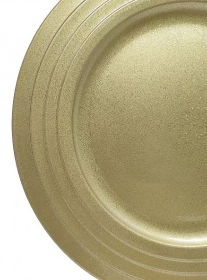 Sousplat Redondo Verona Dourado 33cm - 1154  - Arrivo Mobile