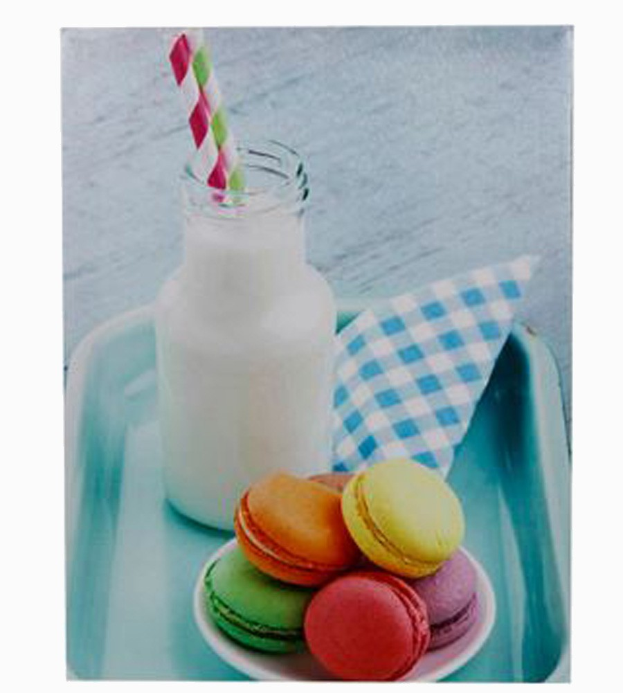 Tela Imp Macarrons & Milkshake Fullway 30x40x1,8cm  - Arrivo Mobile