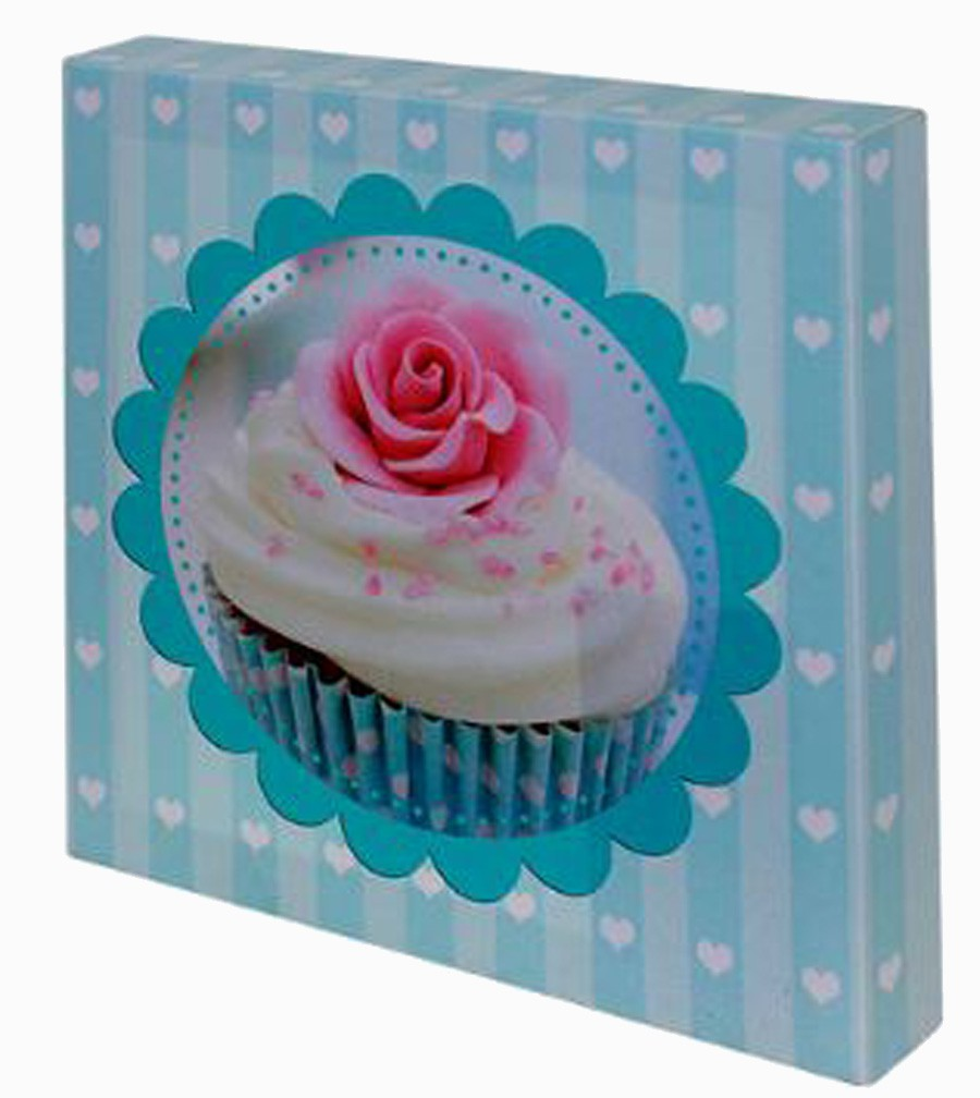 TELA IMPRESSA BLUE CUP CAKE FULLWAY 20X20X4CM  - Arrivo Mobile