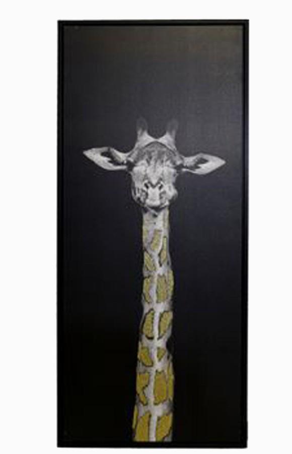 Tela Impressa C/ Mold Girafa Olhando Gliter  - Arrivo Mobile