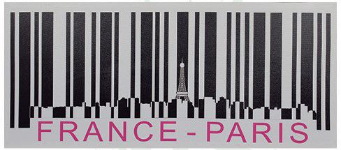 Tela Impressa Código Barras France Paris Fullway  - Arrivo Mobile