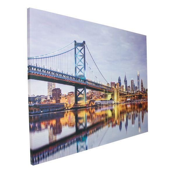 Tela Impressa Com Led Ponte Em New York Fulwway  - Arrivo Mobile