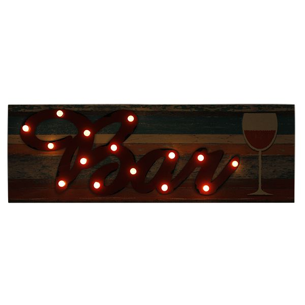 Tela Impressa com Metal e Led Bar Fullway 120x40x6cm  - Arrivo Mobile
