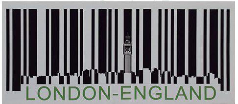 Tela Impressa Códigos Barras London England Fullway  - Arrivo Mobile