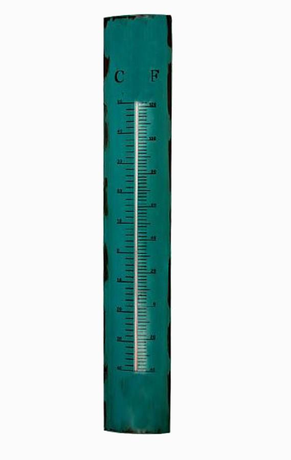 Termômetro Em Metal Azul Oldway 100x17x5cm  - Arrivo Mobile