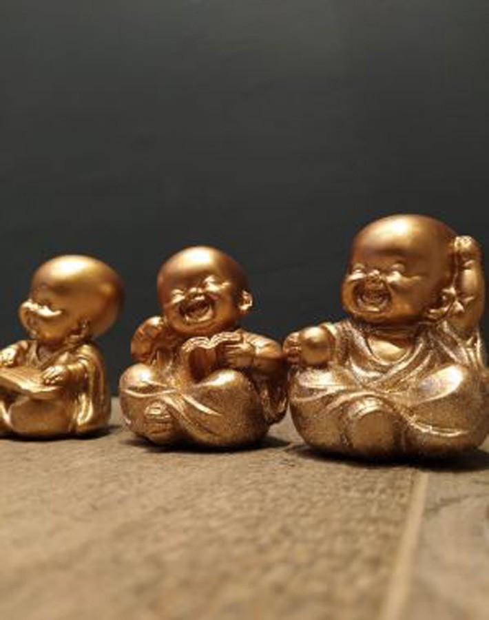 Trio de Budas Dourado  - Arrivo Mobile