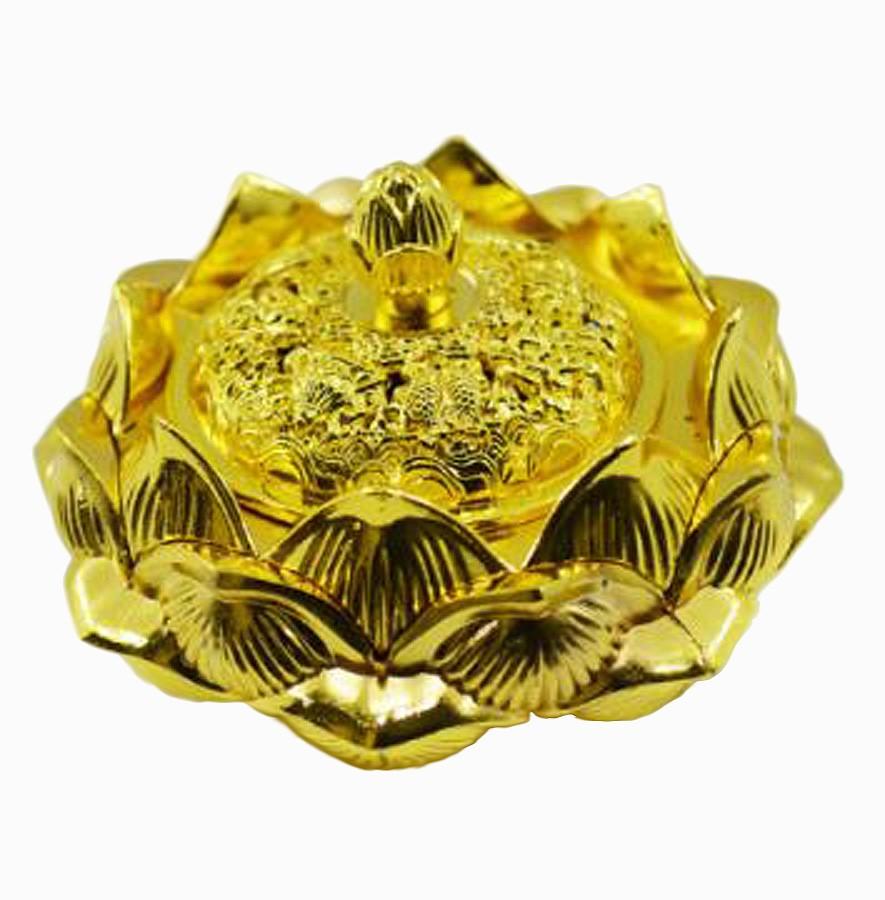 Turíbulo Defumador Incensario Dourado Metal Importado  - Arrivo Mobile
