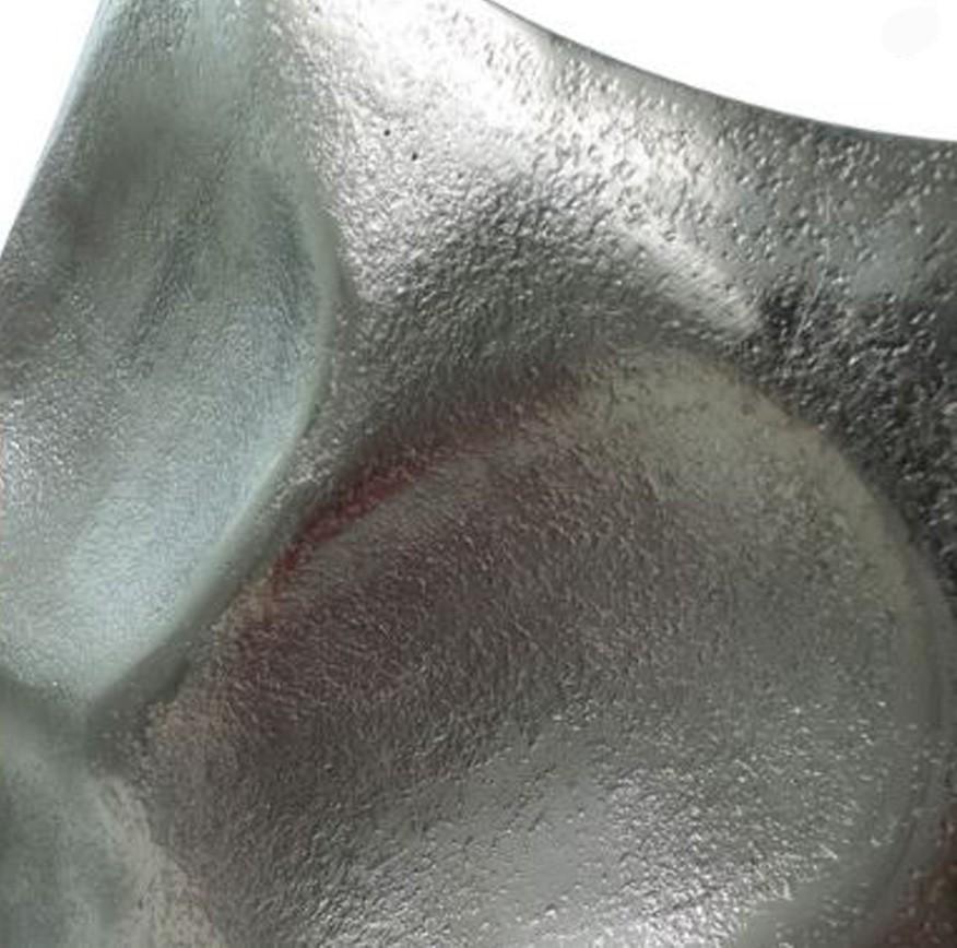 Vaso Alumínio Prateado Rústico 48x14,5x40cm  - Arrivo Mobile