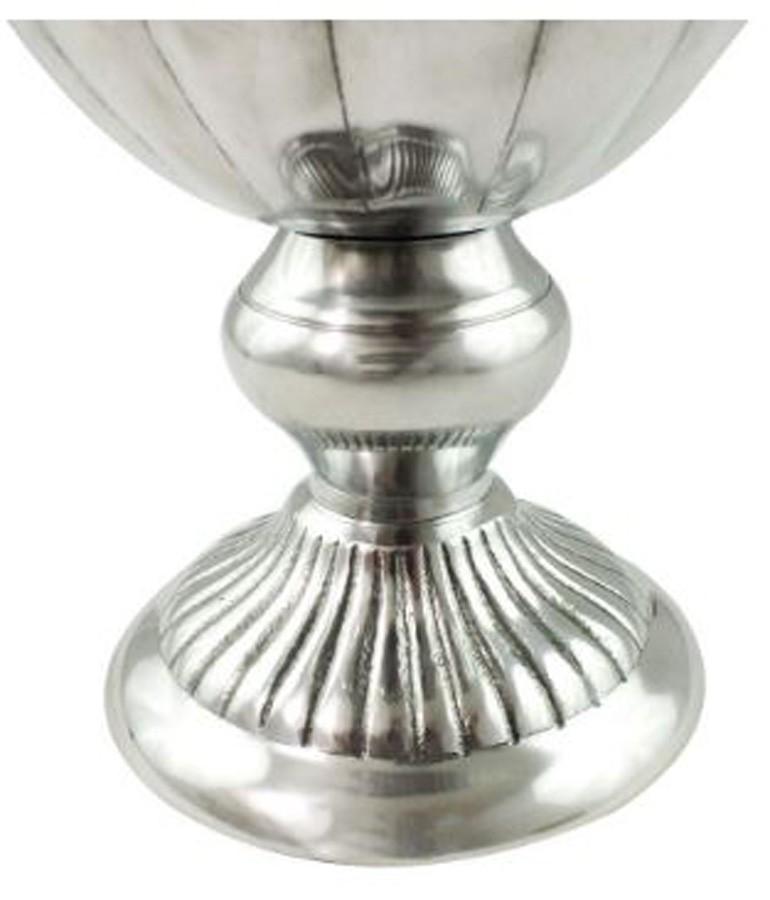 Vaso De Alumínio Brilhante Detalhes De Frisos  - Arrivo Mobile