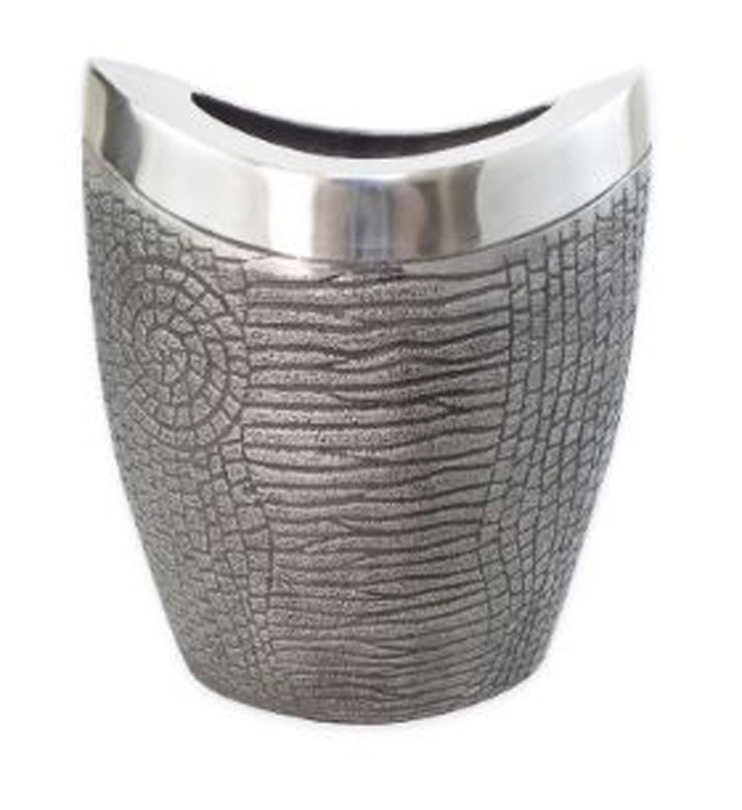 Vaso de Alumínio Concavo Black Copper 20x12x23cm  - Arrivo Mobile
