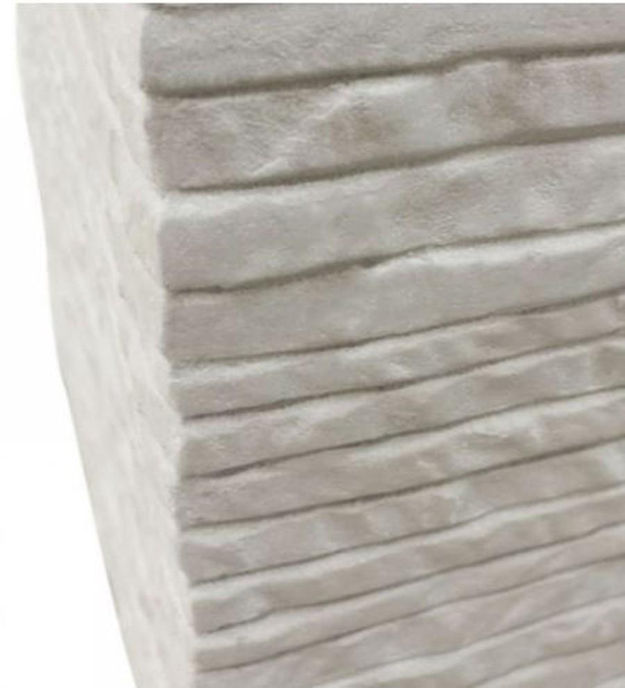 Vaso De Composto Mineral Branco Quadrado 30x27cm  - Arrivo Mobile