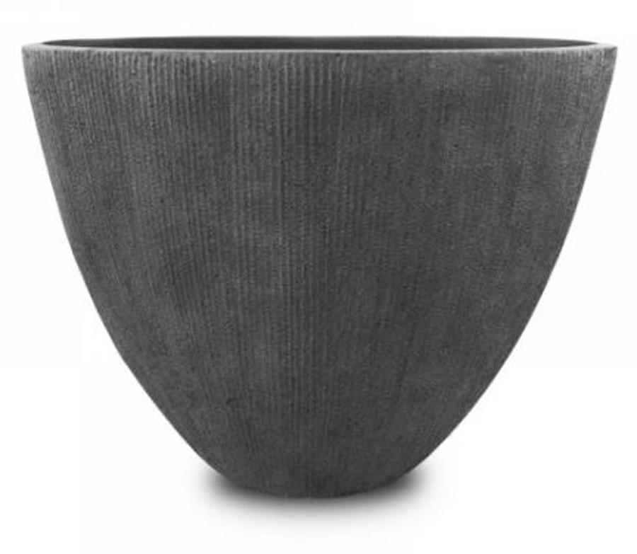 Vaso De Composto Mineral Cinza Oval 37x44x24cm  - Arrivo Mobile
