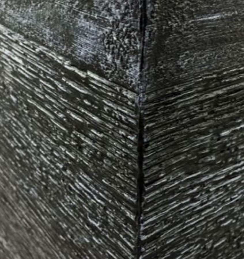 Vaso De Composto Mineral Grafite Quadrado 27x30cm  - Arrivo Mobile