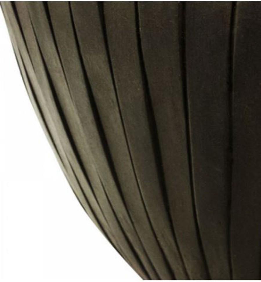 Vaso De Composto Mineral Marrom Oval 27x52x30cm  - Arrivo Mobile