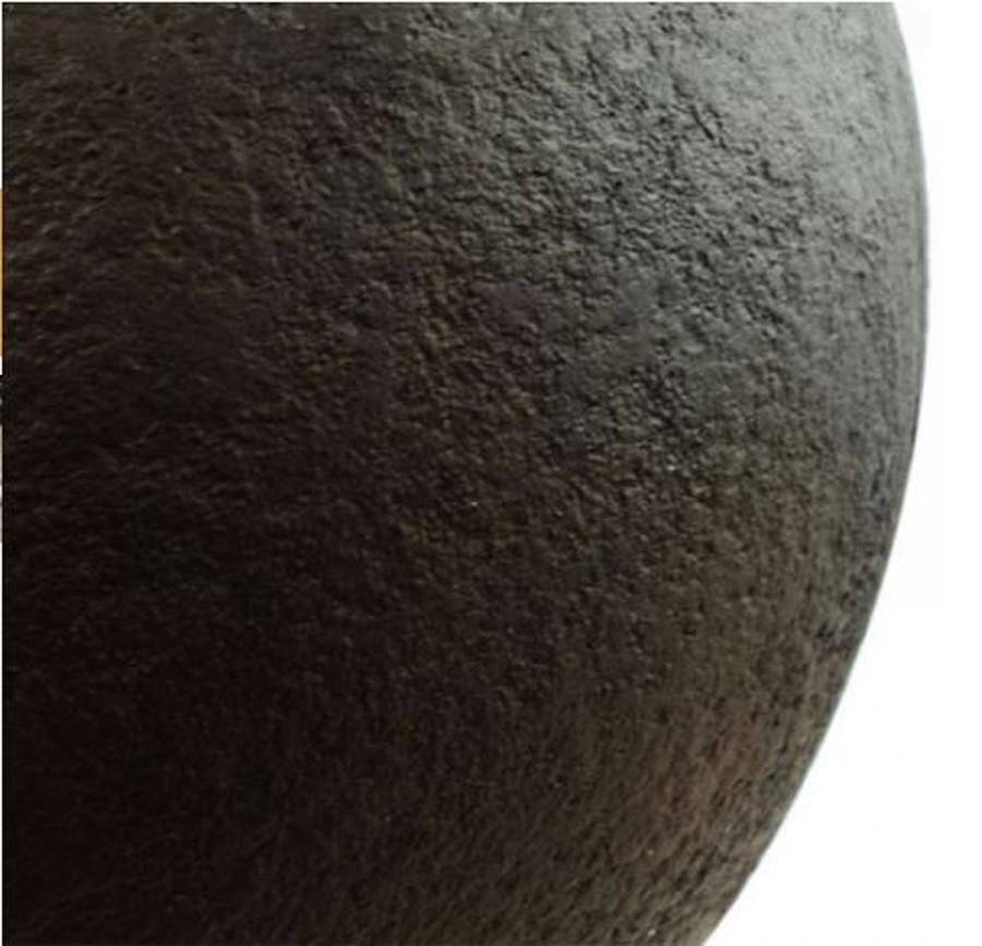 Vaso De Composto Mineral Marrom Redondo 41x52cm  - Arrivo Mobile