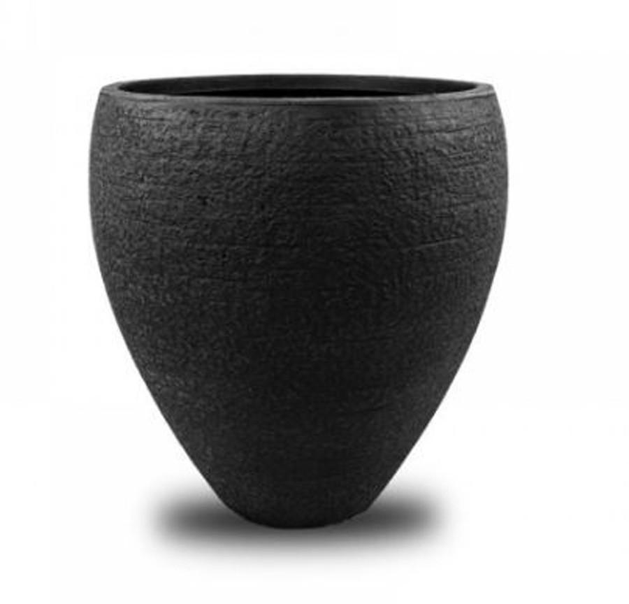Vaso de Composto Mineral Preto Cilíndrico 42x39cm  - Arrivo Mobile