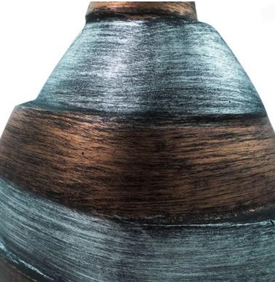 Vaso Decorativo Alumínio Bronze E Prata 54x24x10cm  - Arrivo Mobile