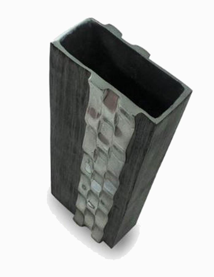 Vaso Decorativo Alumínio Prata Retangular 40x13x6cm  - Arrivo Mobile