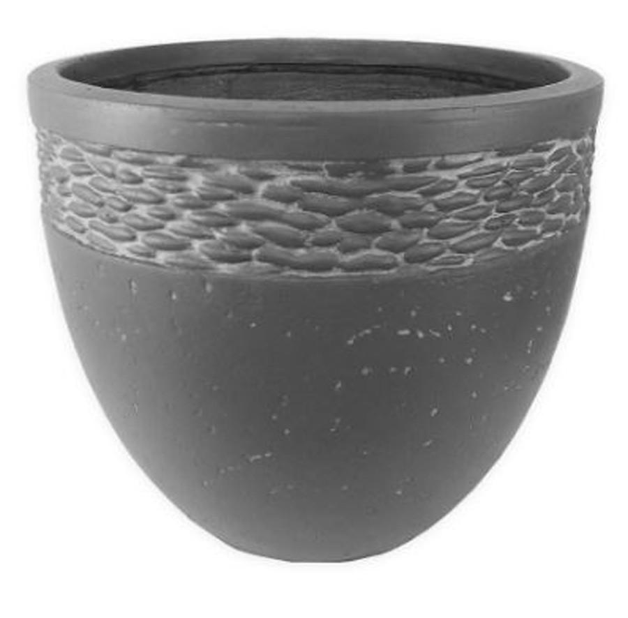 Vaso Decorativo Composto Mineral Cilíndrico 37x34,5cm  - Arrivo Mobile