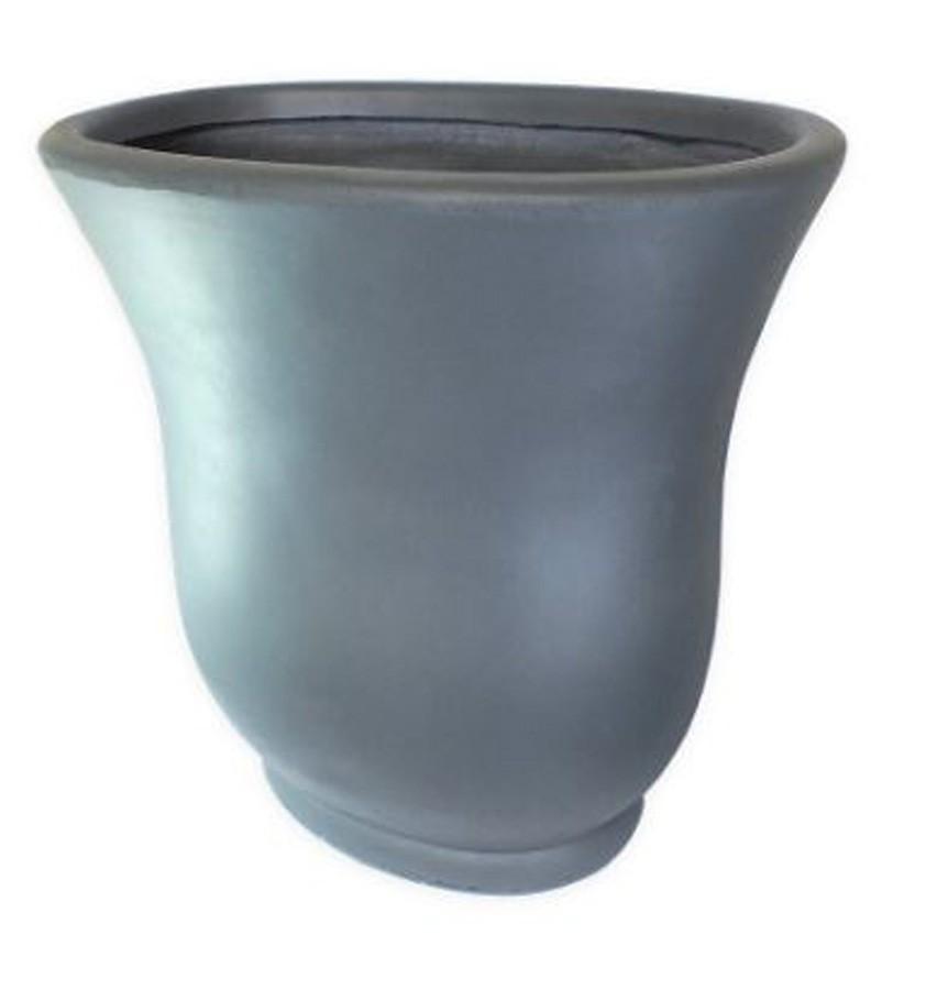 Vaso Decorativo Composto Mineral Cinza 59,5x37x60cm  - Arrivo Mobile