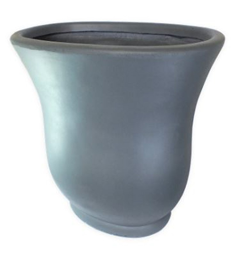 Vaso Decorativo Composto Mineral Cinza 80,5x50,5x81cm  - Arrivo Mobile