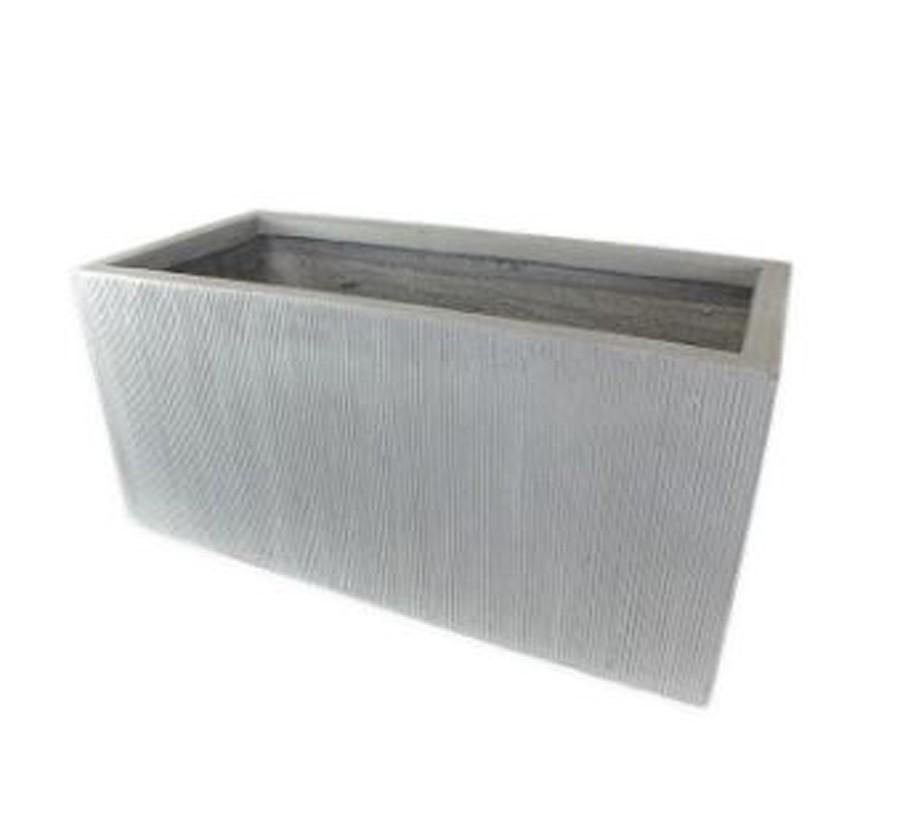 Vaso Decorativo Composto Mineral Quadrado 50x23cm  - Arrivo Mobile