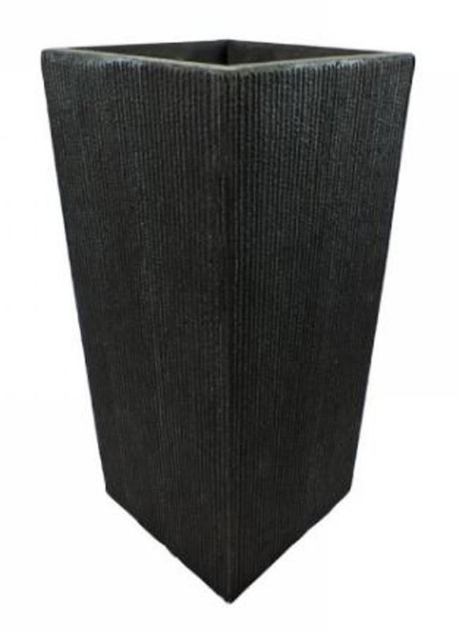 Vaso Decorativo De Composto Mineral Preto 70x33cm  - Arrivo Mobile