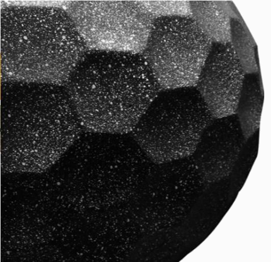 Vaso Decorativo De Composto Mineral Preto Red. 28x55cm  - Arrivo Mobile