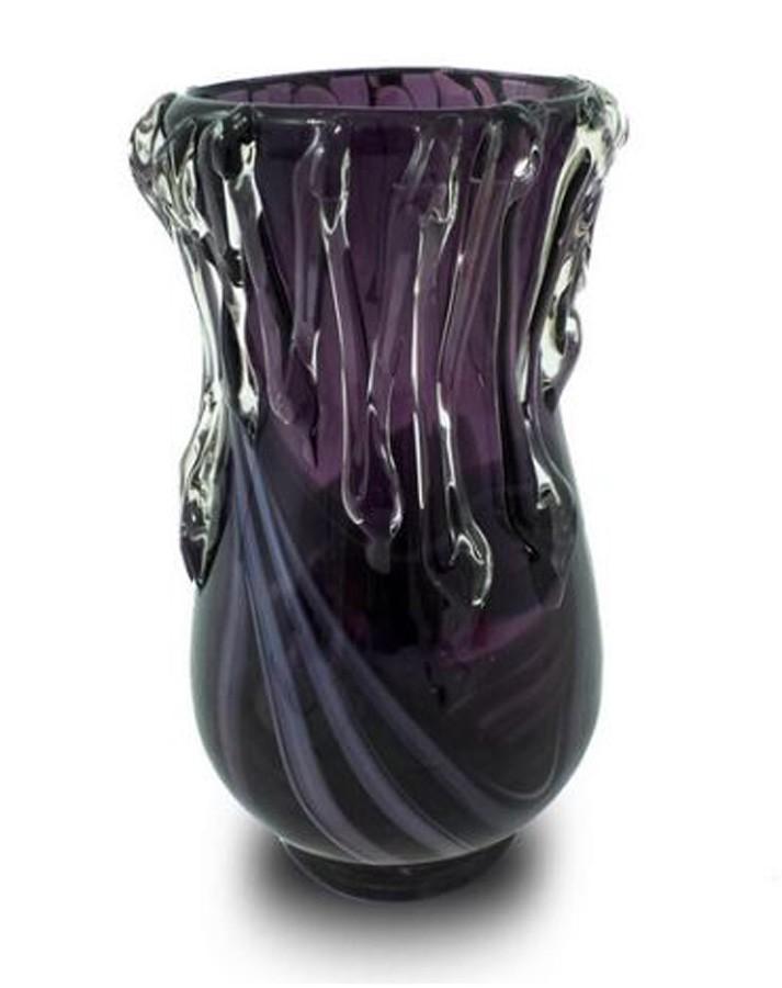 Vaso Decorativo Vidro Gotas de Vidro 25x13cm  - Arrivo Mobile