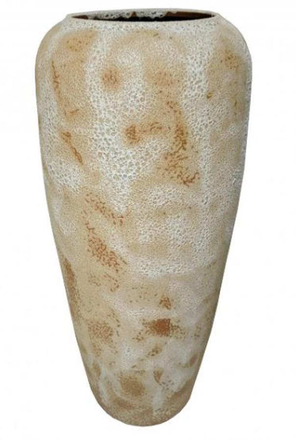 Vaso Estilo Vietnamita Branco 43x43x93cm  - Arrivo Mobile