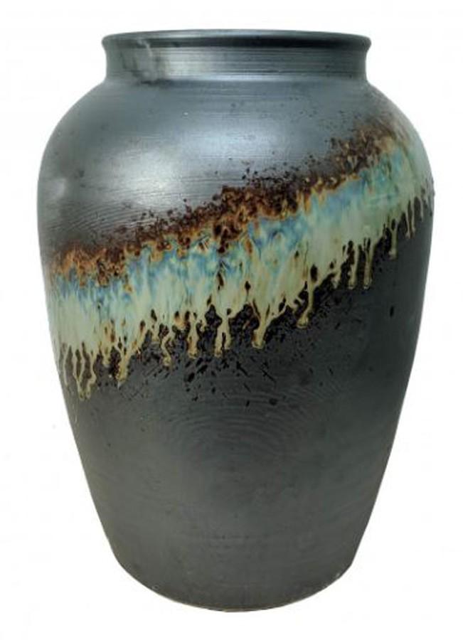 Vaso Estilo Vietnamita Petróleo 43x43x53cm  - Arrivo Mobile