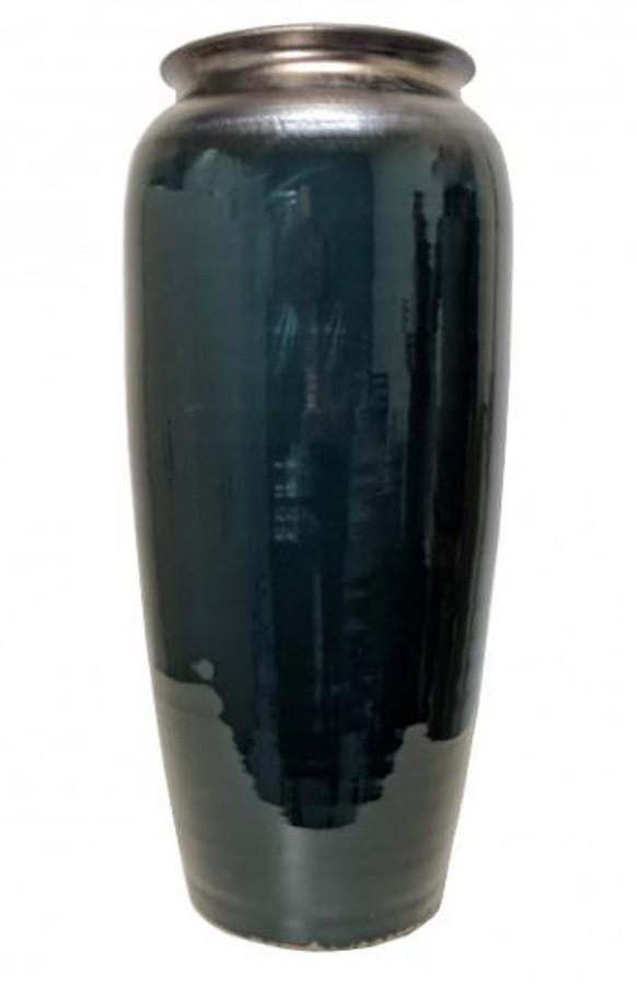 Vaso Estilo Vietnamita Verde 33x33x68cm  - Arrivo Mobile