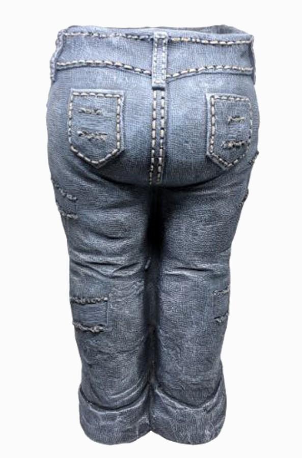 Vaso Para Jardim De Resina Jeans Calça  - Arrivo Mobile