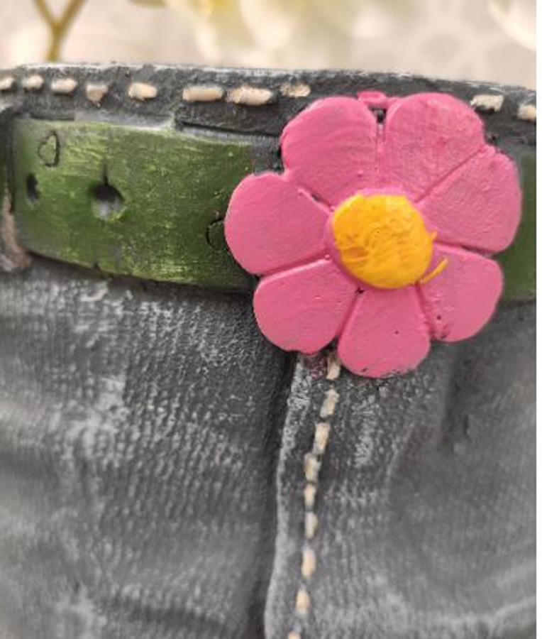 Vaso Para Jardim De Resina Jeans Saia  - Arrivo Mobile