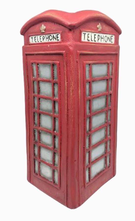 Vaso Para Jardim De Resina Vermelho Cabine Telefonica  - Arrivo Mobile