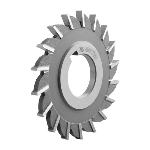 Fresa Circular, Corte 3 Lados, Dentes Retos - Med. 3 x 3/8 x 1 - DIN 885 B H - Aço HSS (M2) - INDAÇO