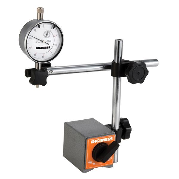 Suporte Magnético Para Relógios Comparadores E Apalpadores Com Haste Móvel - DIGIMESS