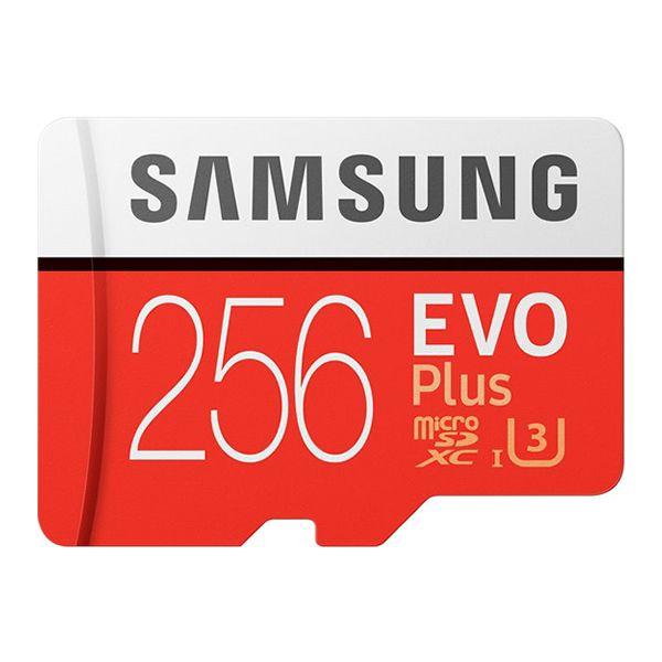 Cartão Micro SD Samsung EVO Plus 256GB U3 Classe 10 microSD SDXC