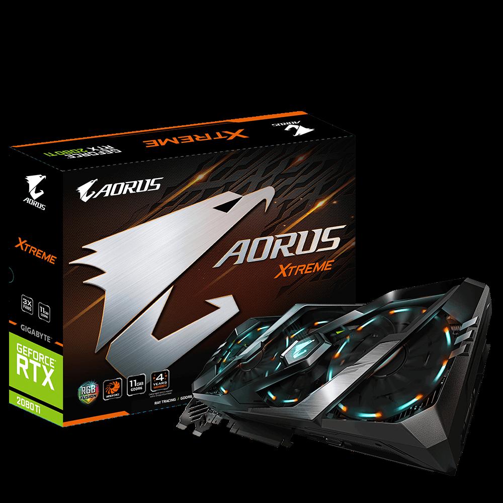 Placa de Vídeo GeForce RTX 2080 Ti AORUS XTREME 11G 2080ti GV-N208TAORUS X-11GC