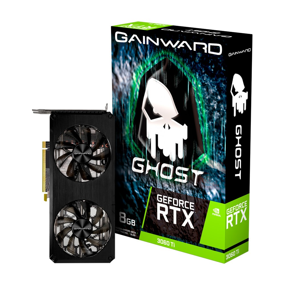 Placa de Vídeo RTX 3060 TI 8GB GAINWARD GHOST GDDR6 256BITS NE6306T019P2-190AB