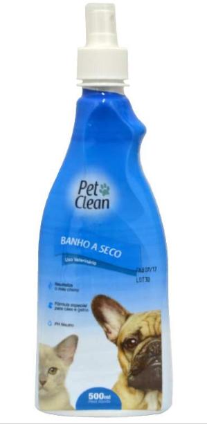 BANHO A SECO PET CLEAN LIQUIDO 500ML