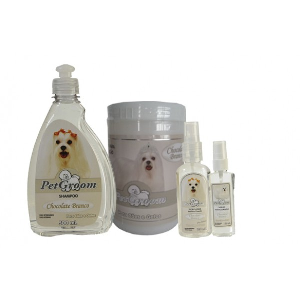 KIT CHOCOLATE BRANCO - PETGROOM