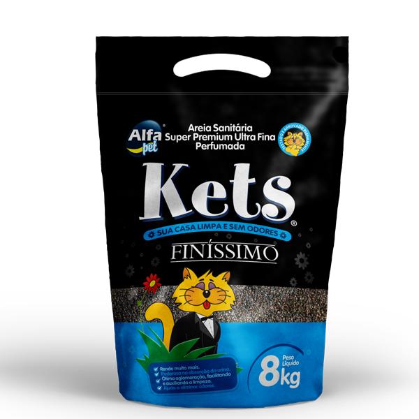 AREIA PERFUMADA PARA GATOS KETs FINÍSSIMO - 4KG