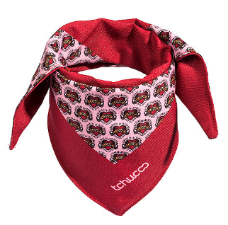BANDANA ESTAMPA TATTOO LOVE - ROSA