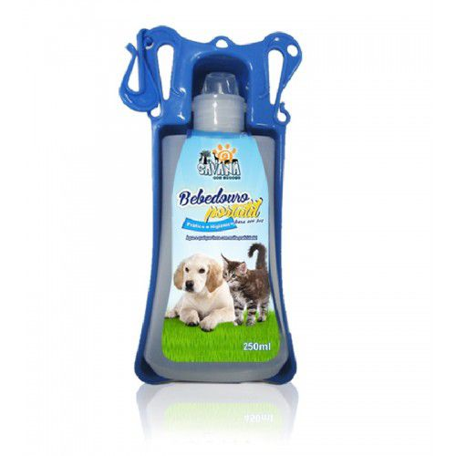 BEBEDOURO PORTÁTIL PET DRINK AZUL - 450ML