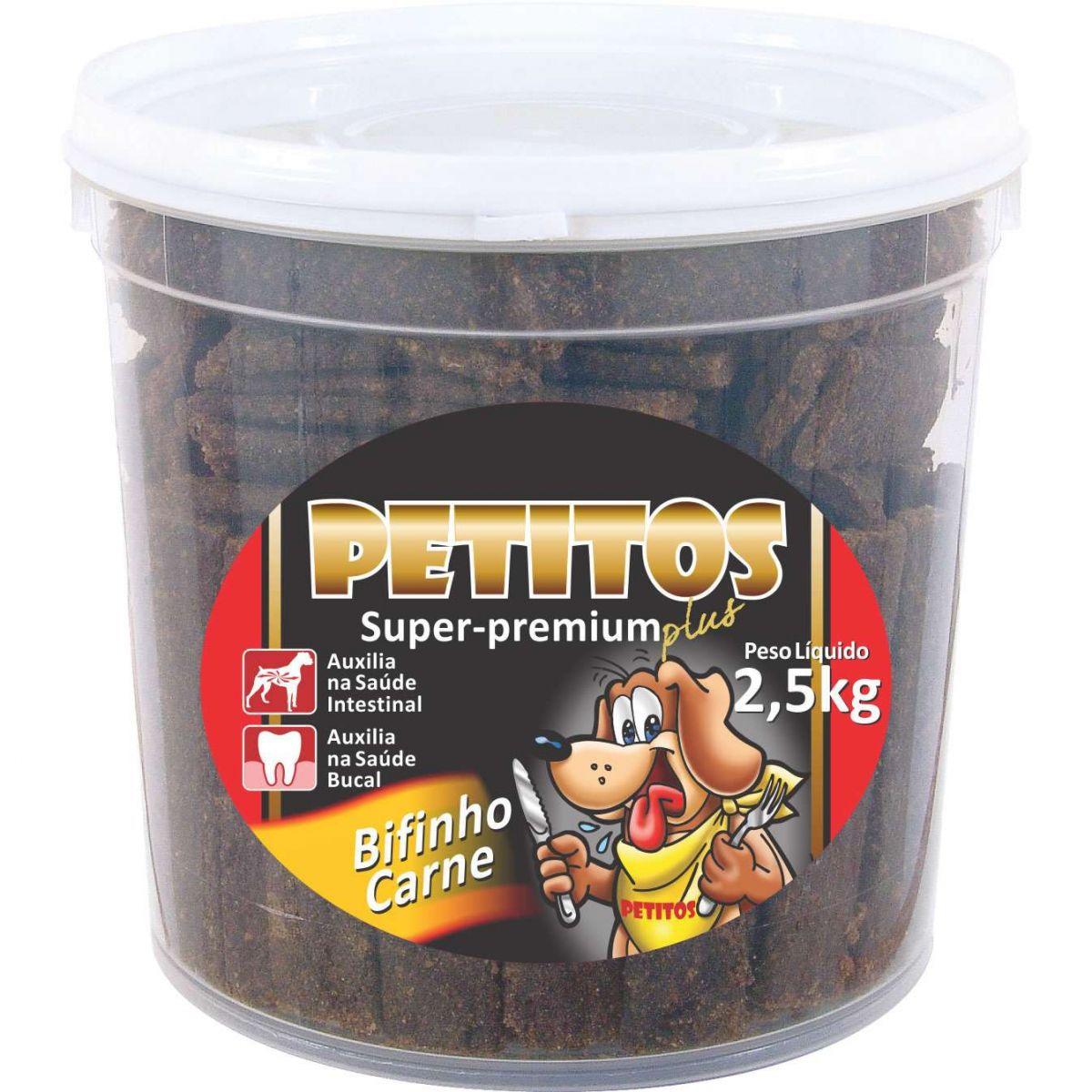 Bifinho sabor Carne Petitos para Cães - 2,5kg