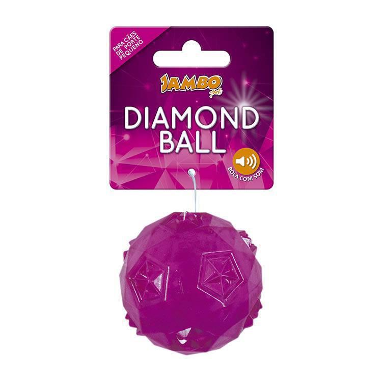 Bola Diamond Rosa 50mm Para Cães Pequeno