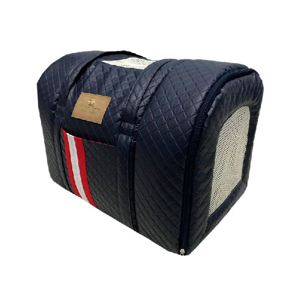 BOLSA DE TRANSPORTE TAM G - STRIPED COURINO  MARINHO